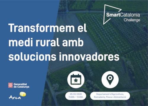Presentación de retos SmartCatalonia Challenge con la Asociación de Iniciativas Rurales de Cataluña